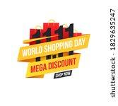 banner for world shopping day...   Shutterstock .eps vector #1829635247