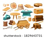 wood industry material tools... | Shutterstock .eps vector #1829643731