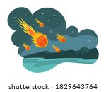 natural disasters falling... | Shutterstock .eps vector #1829643764
