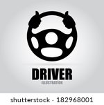 Driver design over gray background, vector illustration - stock vector