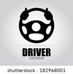 driver design over gray... | Shutterstock .eps vector #182968001