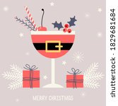 merry christmas. holiday... | Shutterstock .eps vector #1829681684