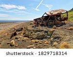 Wrecked Old Car At Dawdon Near...