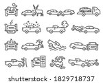 car  bike  vehicle accident...   Shutterstock .eps vector #1829718737
