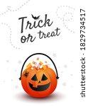 trick or treat banner. creative ... | Shutterstock .eps vector #1829734517