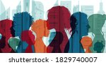 multiethnic and multicultural... | Shutterstock .eps vector #1829740007