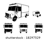 white truck vector illustration | Shutterstock .eps vector #18297529