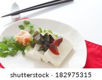 tofu and preserved egg | Shutterstock . vector #182975315