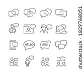 Chat Bubble Related Icons  Thin ...