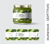 kiwi fruit jam label and... | Shutterstock .eps vector #1829774141