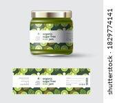 kiwi fruit jam label and... | Shutterstock .eps vector #1829774141