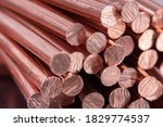 Small photo of Pile of Scrap Copper Rod