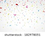 colorful confetti on white... | Shutterstock .eps vector #182978051