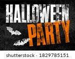 halloween party letterpress...   Shutterstock .eps vector #1829785151
