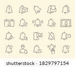 set of vector notification icons