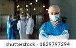Portrait Of Arab Woman Doctor...