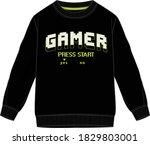 sweatshirt vector artwork with...   Shutterstock .eps vector #1829803001