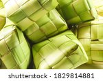 close up of ketupats over... | Shutterstock . vector #1829814881