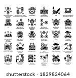 set of self driving car  ... | Shutterstock .eps vector #1829824064