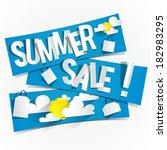 summer sale banners vector... | Shutterstock .eps vector #182983295