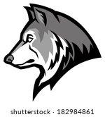wolf mascot   Shutterstock .eps vector #182984861