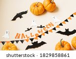 halloween and decoration... | Shutterstock . vector #1829858861