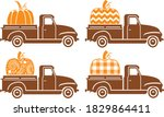 4 Patterned Pumpkins In Trucks  ...