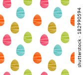 easter eggs seamless pattern.... | Shutterstock . vector #182990594