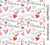 holiday valentines day seamless ... | Shutterstock . vector #182990621