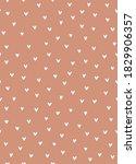 sweet scandinavian style heart... | Shutterstock .eps vector #1829906357