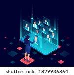 vector of a businesswoman... | Shutterstock .eps vector #1829936864