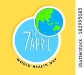 world health day sticker  tag... | Shutterstock .eps vector #182995085