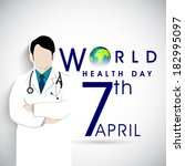 abstract world health day... | Shutterstock .eps vector #182995097