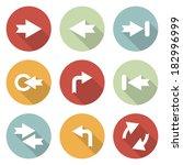 arrow vector sign icon set
