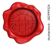 3d render wax seal with made in ... | Shutterstock . vector #182999324