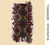 grunge brush texture with snake ... | Shutterstock .eps vector #183000011