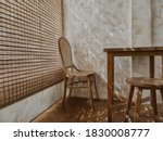 The Wooden Table And Chairs...