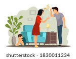 angry people in family conflict....   Shutterstock .eps vector #1830011234