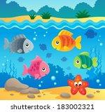 underwater ocean fauna theme 2  ... | Shutterstock .eps vector #183002321