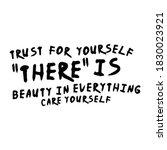 trust for yourself slogan...   Shutterstock .eps vector #1830023921