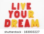 laid out the word of colored... | Shutterstock . vector #183003227