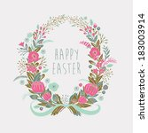 happy easter card | Shutterstock .eps vector #183003914