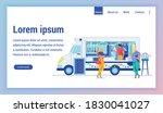 fastfood truck flat vector... | Shutterstock .eps vector #1830041027