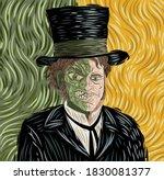 evil monster tranformation on... | Shutterstock .eps vector #1830081377