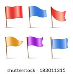 Flags  Set Of Vector Multi...