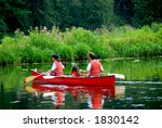 family of three canoing on a...   Shutterstock . vector #1830142