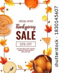 happy thanksgiving day promo... | Shutterstock .eps vector #1830145607