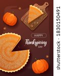 happy thanksgiving day card... | Shutterstock .eps vector #1830150491