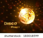 gold disco ball. vector...
