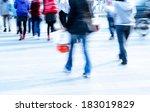 busy city pedestrian people... | Shutterstock . vector #183019829